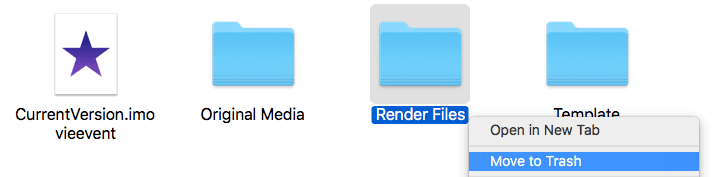 iMovie Render Files