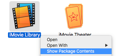 iMovie Show Package Contents