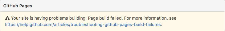 Page Build Failure